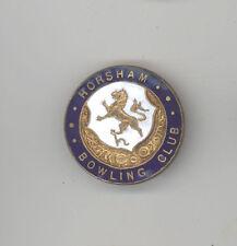 HORSHAM BOWLING CLUB Lapel Pin ENAMEL UK Bowls ENGLAND Sussex LAWN Sport SPORTS