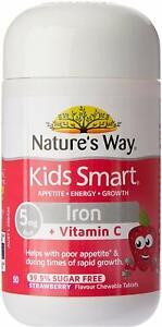 New Nature's Way Kids Smart Iron + Vitamin C Chewable, 0.05 Kilograms Australia