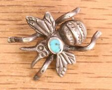 Vintage Sterling Silver Turquoise Bee Pin 110-61