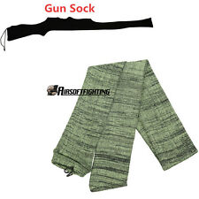 "54"" Silicone Treated Gun Sock Case Gun Rifle Shotgun Scope Cover Tactical OD"