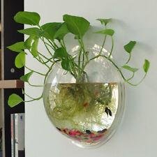 KQ_ Plant Flower Pot Wall Hanging Acrylic Vase Fish Tank Hydroponic Terrarium