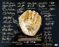 GOLD GLOVE WINNERS AUTOGRAPHED 16X20 PHOTO 45 SIGS OZZIE SMITH PSA/DNA 10729