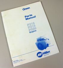 Onan P216 P218 P220 P224 Engine Parts Manual Catalog Exploded Views For Assembly
