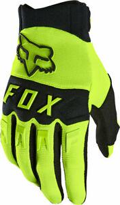 NEW Fox Racing Dirtpaw Gloves - Fluorescent Yellow Full Finger Men's Large