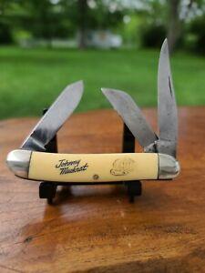 JOHNNY MUSKRAT KNIFE ~ Vtg. Sears & Roebuck Fur Company. 3 blade trappers knife.
