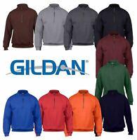 Gildan HeavyBlend Men's Vintage 1/4 Zip Pullover Soft Feel Sweatshirt Jumper New