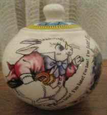 PAUL CARDEW ALICE IN WONDERLAND MAD HATTER'S TEA PARTY COVERED BOWL MINT