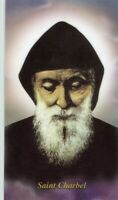 St. Charbel - Relic Laminated Holy Card - Blessed by Pope Francis