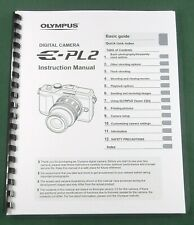 Olympus E-PL2 Instruction Manual: 124 Pages & Protective Covers!