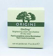 ORIGINS GINZING BRIGHTENING CREAM EYE SHADOW * 01 VANILLA VROOM * .17 oz / 5 ml