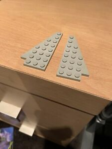 Vintage Lego Old Grey 4x8 Wing Plate Parts X2 Lot Pair Classic Space 3933 & 3934