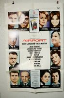 Vtg AIRPORT 1 Sheet Movie Poster Burt Lancaster Dean Martin Jean Seburg Bisset