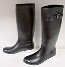 "MONCLER Black ""HERMINE"" Rubber Rain Boots - New In Box - Size 41"