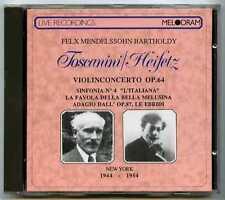 CD TOSCANINI, Jascha HEIFETZ : Mendelssohn Concertos.. / Melodram 1988, no IFPI