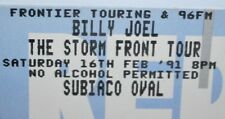 BILLY JOEL Concert Tickets x2 THE STORM FRONT TOUR 1991 Perth Australia INTACT