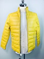 Campaign Black Men's Down Fill Lamb Leather Puffer Jacket Outerwear