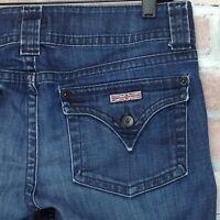 Hudson Signature Boot Cut Flap Low Rise Blue Jeans 2% Womens Size 30 Denim 32X30