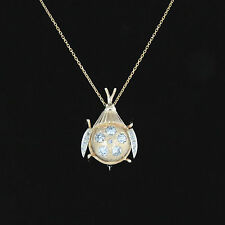 NYJEWEL 14k 18k Gold Brand New Beetle 2.4ct Diamond Brooch Pin Necklace