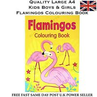 QUALITY LARGE KIDS CHILDREN'S FLAMINGOS COLOURING BOOK A4 SIZE BOYS GIRLS NEW
