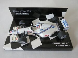 R. BARRICHELLO 1997 Stewart Ford SF1 Paul's Model Art Minichamps F1 1:43