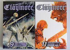ESZ915. MANGA Claymore Volume 9 and 11 by Norihiro Yagi VIZ Shonen Jump (2007)_