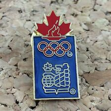 1988 Calgary Olympics RBC Royal Canadian Bank Lapel Pin Advertising Maple Leaf