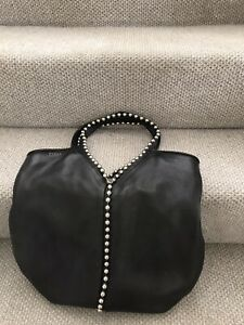 Furla black leather bag, pre-loved with care