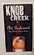 Knob Creek Rare 13 3/4 X 8 Tin Metal Embossed Sign gift Man Cave bar