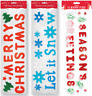 MERRY CHRISTMAS Gel Window Stickers Wall Decals Xmas Party Decoration 3 Designs