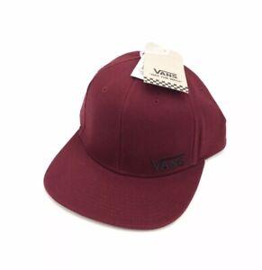 NEW Vans Third Splitz Skateboarding Snapback Hat Cap Red Black OTW