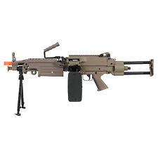 Airsoft M249 Para 400 FPS Heavy Machine Gun LMG Rifle Full Metal IU-M249 PARA-T