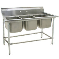 Eagle Group 412-16-3, Stainless Steel Commercial Compartment Sink with Three 16-