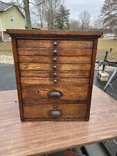 Antique 1940's Apothecary Cabinet 8 Drawer Oak Cubby vintage storage