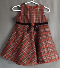 Girls Red plaid jumper by George, size 18 months