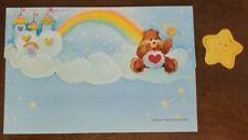 Vintage American Greetings Care Bears postalette by Elena, Tenderheart on cloud