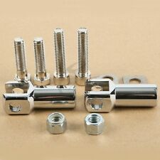 Chrome Foot Peg Supports Mounts Clevis Kits For Harley Davidson Softail 2000-06