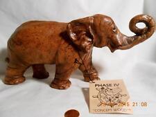 Phase IV Concept Wood Light Brown Elephant Figure