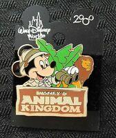 """Walt Disney World 2000 """"MICKEY MOUSE DISNEY'S ANIMAL KINGDOM"""" ENAMEL PIN minty"""