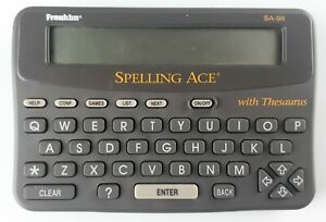 Franklin Computer Spelling Ace SA-98 English Spell Checker With Thesaurus SA98