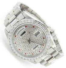 Luxus Herren Uhr PLAYAZ limited RED DIAMOND Kristall Edelstahl Automatik selten