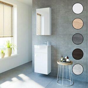 Planetmöbel Badmöbel Set 40cm Gäste WC Bad Waschbecken Unterschrank Spiegel