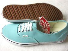 Vans Authentic Mens Aqua Haze Blue True White canvas Skate shoes Size 10 NWT