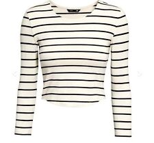 H&M Striped Cropped Tops & Shirts for Women