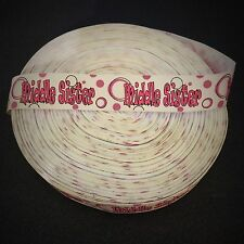 """7/8"""" Middle Sister Grosgrain Ribbon by the Yard (Usa Seller!)"""