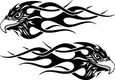 Tribal Eagle Flames Car Van 4x4 Bike Window Stickers #2