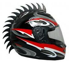 Motorcycle Helmet Mohawk Saw Blades, Black, Motocross,Snowmobile, ATV