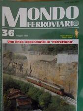 Mondo Ferroviario n°36 L con inserto Ferrovia BARI BARLETTA - Poster D 343 FS