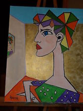 Picasso Lady No.4 by the  Artist Rodster 16X20-Original Acrylic - New-Fauvism