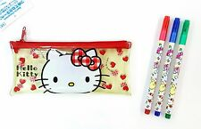 Sanrio Characters 3 Colors Marker Pen + Hello Kitty Pen Pouch Registered Ship