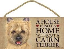 Cairn A House Is Not A Home Dog wood Sign wall hanging Plaque tan Terrier puppy